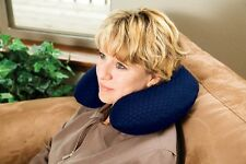 Carex Memory Foam Travel Pillow Airplane Car Neck Support Comfort Blue P108-00