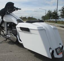 """6"""" Stretched Saddlebags And Rear Fender With Dual Cutouts For Harley Baggers"""