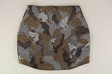 NEW EXPRESS Womens Snakeskin Mini Skirt Small S Sequin NWT Party Disco Black