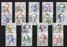 Bund Frauen sauber gestempelt ESST 1986 - 1990 Nr.1432,1433,1427,1428,1405,1397