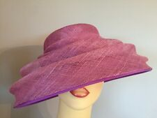 Ladies Occasion Formal Wedding Races Mother Bride Hat Pink Purple By Balfour