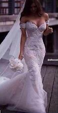 Gorgeous Arabic Formal Lace Mermaid Wedding Dress,