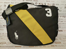POLO RALPH LAUREN Messenger Bag Banner Black Satchel Shoulder Bags BNWT RRP£75
