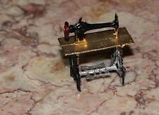 Vtg  Doll House Miniature Soft Metal Sewing Machine Furniture Item