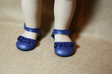 Doll Clothes fitting 18 in American Girl Navy Blue Shoes with Navy Rosettes