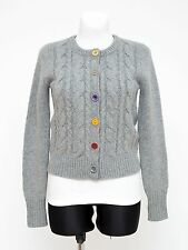 WOMENS JOULES CARDIGAN CASHMERE ANGORA WOOL CABLE KNIT GREY UK 10 S SMALL EXC