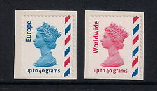 GB stamps - 2003/4 Machin Definitives s/a Europe & Worldwide, SG2358/2359, MNH