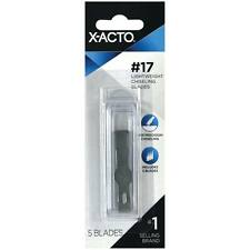NEW X-Acto #17 Chiseling Blade Carded (5) X217