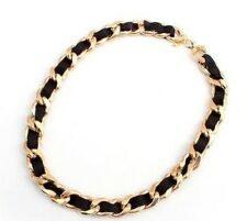 European Fashion Woman West Gold Plated Chain Chunky Collar Bib Necklace