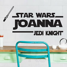 Star Wars Jedi Knight Cotizaciones De Pared Personalizado Nombre Pegatinas de pared Calcomanías 334