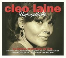 CLEO LAINE UNFORGETTABLE - 2 CD BOX SET - MAD ABOUT THE BOY & MORE