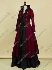 Victorian Edwardian Military Coat Dress Steampunk Cosplay Punk Costume V 176 XL