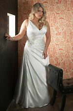 Plus Size White/Ivory Wedding Dress Bridal Gown Custom Size 16 18 20 22 24 26 28