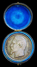 1859 SILVER FRANCE CASED MEDAL PRESENTED BY NAPOLEON III TO FIRE BRIGADE CAPTAIN