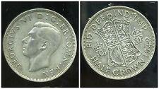 ROYAUME UNI  half crown 1942  ARGENT