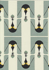 Penguins, Charley Harper - fat quarter 100% cotton quilting fabric - 50 x 55 cms