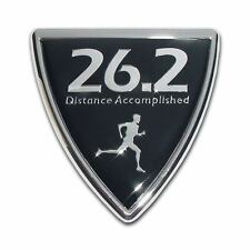 26.2 Marathon Male Shield Chrome Plated Car Auto Truck Emblem Made in the USA