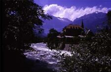35mm Colour Slide- Swiss River and Building - Switzerland  1963