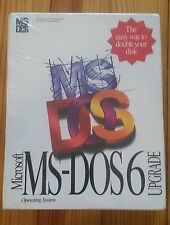 """Genuine Microsoft MS-DOS 6 Upgrade - 3.5"""" HD Disks, New (Sealed) FREE SHIPPING"""