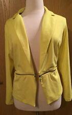 Mossimo Lemon Yellow Zip-off Jacket
