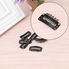 32mm Black U Shape Snap Metal Clips For Hair Extensions Weft Clip-on Wig 40 Pcs