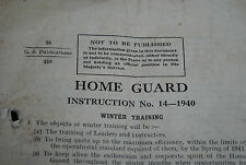 Home Guard Instruction no.14 -1940 Winter training