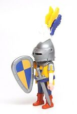 Playmobil Figure Castle Knight w/ Unicorn Plumes Helmet Shield Sword 5864 5959