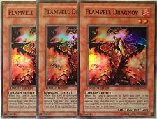 YUGIOH FLAMVELL DRAGNOV HA01-EN007 SUPER RARE X3