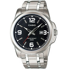 Casio MTP-1314D-1A Stainless Analog Watch MTP1314 Big Face XL Black Dial COD PP