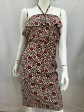 NEW LADIES WAREHOUSE BURGUNDY PATTERNED SUN DRESS SIZE 6