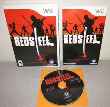 RED STEEL Nintendo Wii Swordplay Action Adventure Complete w/Manual Ubisoft