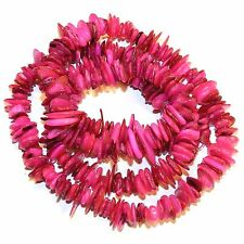 MP2377p Pink 10-15mm Flat Nugget Chip Mother of Pearl Gemstone Shell Beads 30""