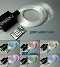 16W RGB LED plastic Fiber Optic Star Ceiling light Kit 200strand 0.75mm 2m cable
