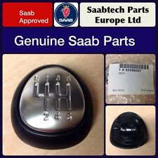 Genuine saab 9-3 leather gear knob emblem haut vitesse 6 - 55566207 neuf