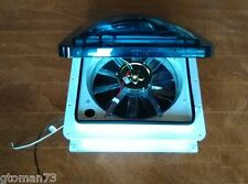 FAN-TASTIC VENT 815032 RV ROOF FAN 1200 MANUAL LIFT 3 SPEED SMOKE DOME CAMPER