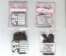 25 PINK BABY GIRL FAVORS TEDDY BEAR THEME+BABYS BREATH SEEDS + FREE SHIPPING