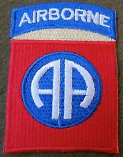 A2g WWII US 82ND AIRBORNE PARATROOPER SLEEVE DIVISION INSIGNIA PATCH-KHAKI