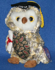 TY SMARTY the OWL BEANIE BABY - MINT with MINT TAGS - TY STORE EXCLUSIVE