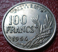 1954 FRANCE 100 FRANCS IN EF CONDITION