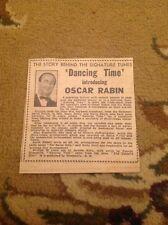 K3-2 ephemera 1948 News Item Dancing Time Oscar Rabin