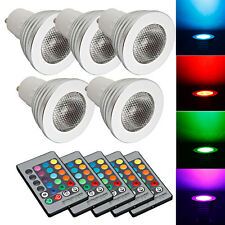 New! Lot5 GU10 5W 85~265V LED RGB Bulb Lamp Light Remote Control Color Chan