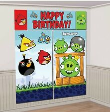 ANGRY BIRDS Scene Setter HAPPY BIRTHDAY Party wall decor Pigs