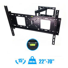 "Articulating Full Motion TV Wall Mount 15°Tilt 180°Swivel For 42""50""55""60""65""70"""