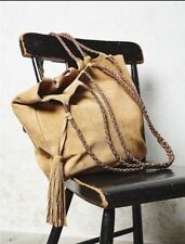 Free People Women's Decades Nude Suede Tote Bag Multi Strap Purse Retails $160.