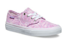 Vans Camden Stripe Trainers Girls Shoes Pumps Size4 EU36.5 Pink Spin White Lilac