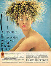 PUBLICITE ADVERTISING 044   1960   HELENA RUBINSTEIN   cosmétiques solaires GOLD