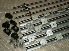 SBR16 SBR20 linear rail sets+3 ballscrew RM1605-350/950/1150mm+BK/BF bearing CNC