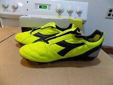 Diadora Men's DD-Eleven  MG14 Soccer Cleat (Fluorescent Yellow/Black) SIZE 8.5