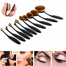 10stk Foundation Oval Pinsel Puderpinsel Kosmetik Brush Make Up Zahnbürste Set