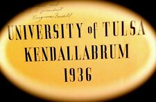 "1936 UNIVERSITY OF TULSA YEARBOOK ""Kendallabrum""~very fine used condition"